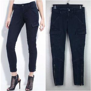J Brand 24 Olympia Skinny Cargo Denim Pants